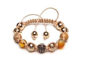 Shamballa Bracelet Picture Jasper Malachite Gemstones Gold Pave Crystal Beaded