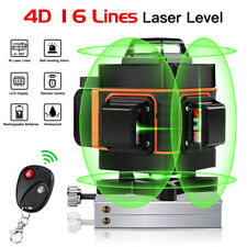 16 Lines 4D Laser Level 360° Green Self Level Horizontal Vertical Remote Control
