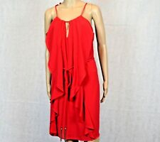 City Chic L Waterfall Tunic Red Postage