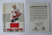2006-07 ITG International Ice GUJ-31 Gare Danny 1/10 game jersey GOLD Canada