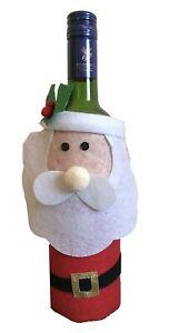 Christmas Santa Felt Wine Bottle Gift Bag Xmas Party bags holder