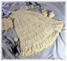 "CROCHET PATTERN for ""CALLEIGH"" Christening Gown by REBECCA LEIGH--NB/3 & 6/12 mo"