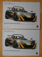 Lotus 2-eleven 2x folleto Folletos - 2009-pista días de conducción acaban de graves