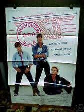 GRANDVIEW U.S.A. nr mint 1-sht / movie poster (Jamie Lee Curtis, Patrick Swayze)