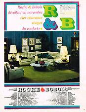 PUBLICITE  1967   ROCHE & BOBOIS  meubles canapés