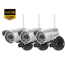 3PCS HD Home Security IP Camera Wifi Wireless System Internet Outdoor Waterproof