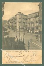Calabria. REGGIO CALABRIA. Piazzetta Ponte S. Filippo. Cartolina viagg. nel 1902