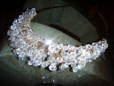 Handmade crystal tiara, wedding, bridal, fancy dress, evening wear, competition