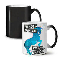 Gym Unicorn Stamina NEW Colour Changing Tea Coffee Mug 11 oz | Wellcoda