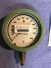 """ASHCROFT TEST GAUGE 0-5000 PSI  FACE  5"""" THICKNESS 2 1/8"""""""