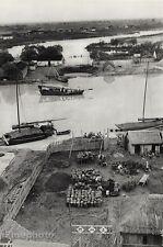 1949 Vintage Nanking LANDSCAPE CANAL China Ship Boat 16x20 HENRI CARTIER-BRESSON
