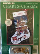 Dimensions  Charts & Charms  CHRISTMAS PAST STOCKING  Wysocki #8516