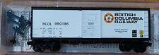Micro-Trains Line #07300060 British Columbia Railway 40' Boxcar Rd #990198