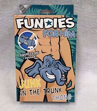 Fundies for Him Junk in the Trunk Thong Elephant Squeak Tail Grey Furries Play
