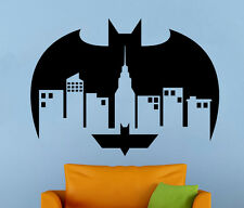 Batman Gotham City Wall Decal Comics Vinyl Sticker Kids Room Home Art Decor 26nt