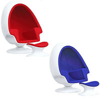ALPHA 'EGG' CHAIR AND OTTOMAN FOR USE IN RELAXING SOUND ISOLATING MEDITATION