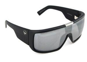 NEW Genuine DRAGON Sunglasses DOMO Matte Black Silver Ionized Lens Shield DR 049