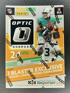 New 2020 Panini NFL Donruss Optic Football Blaster Box, Hanger, Cello Pack, Mega