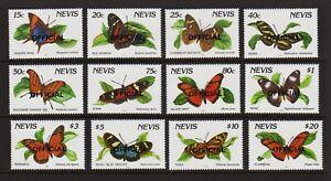 Nevis - Official stamp set - Butterflies - cat. $ 39.00