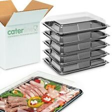 25 x Medium Buffet Platters & Lids(390 x 295 x 70mm) UK made,100% Recyclable