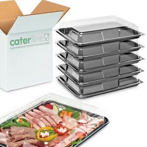 25 x Medium Buffet Platters & Lids(390 x 295 x 70mm)Reusable & 100% Recyclable