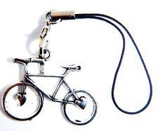 Plata Antigua 3D Bici Bicicleta Bolsa De Regalo encanto del teléfono comprimidos móviles Maleta Bolsa