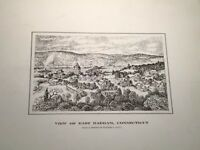 "2 Prints By Northam R. Gould "" View Of East Haddam Connecticut"" Historical"