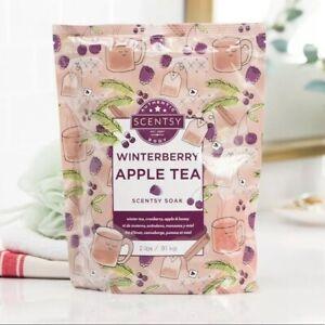 Scentsy Body Bath Soak Winterberry Apple Tea 2lb Bag Sealed Epsom Himalayan Salt