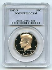 1982 S 50C Kennedy Half Dollar Proof PCGS PR69DCAM