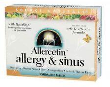 Source Naturals allercetin ALLERGY & Sinus x48tabs