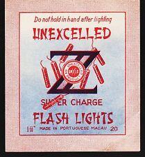 Vintage Unexcelled Firecracker Pack Label