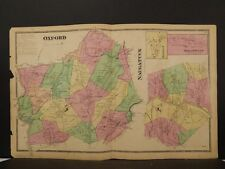 Connecticut, New Haven County Map, 1868 Town of Oxford & Naugatuck !Z3#43
