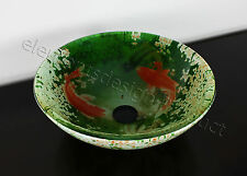 "3/4"" Thick Bathroom Double Layer Glass Vessel Sink + ***Free Pop Up Dran*** A201"