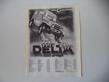 advertising Pubblicità 1982 FUORISTRADA DELTA MINI CRUISER