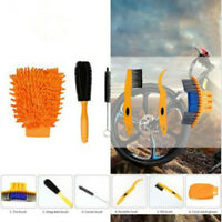 6Pcs/set Durable Bike Chain Clean Bicycle Cleaning Tools Kit Brush Motorcycle