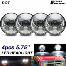 "4x 80W 5.75"" LED Projector Headlight H5001 H5006 For Dodge Monaco 1965-1976"