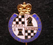 Espana Spain , Maximo Lopez , El Entrego Football Soccer Pin Badge Enameled