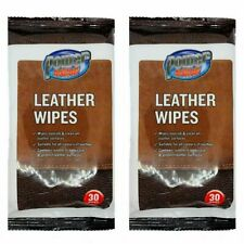 Leather Wipes | Leather Cleaning & Shining Wipes | 2 x 30 Cleaning Wipes |