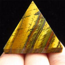 Pretty Natural Golden Tiger's eye Stone Crystal Quartz  Pyramid Point Heaing TH1