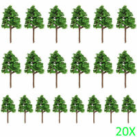 20pcs 1: 100 Modelleisenbahn Landschaftsbau Baum Modell Pagodenbäume Modellbäume