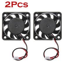 2PCS 40MM 12V Mini Cooling Computer Fan - Small 40mm x 10mm DC Brushless 2-pin 1
