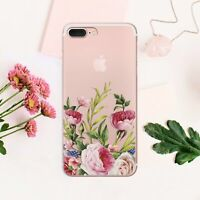 Cute iPhone 11 XS Max Cover Flowers iPhone XR 7 8 Plus Cover Floral iPhone 6 6s