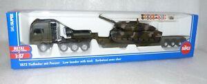 Siku 1872 - MAN Schwertransport Tieflader mit Panzer - Siku Super Metall 1:87