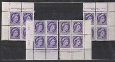 1954 #340 4¢ QUEEN ELIZABETH II WILDING PORTRAIT MS PLATE BLOCK #2 F-VF
