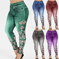 Women High Waist Stretch Jeans Skinny Denim Pants Jegging Pencil Trousers