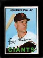 1967 TOPPS #383 KEN HENDERSON EXMT GIANTS DP  *X01858