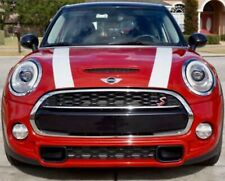 x2 Hood Decals Sport Racing Plain Stripes Fits mini cooper hood graphics 1 color