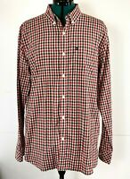 Quiksilver Mens Red & Black Checked Long Sleeved Dress Shirt Size M