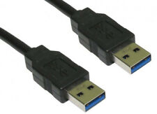 BLACK 1 Metre 1m USB 3.0 A Male to A Plug Lead AM Cable High Speed USB 3 M/M NEW