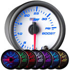GlowShift 52mm White Face 7 Color LED Turbo Boost 35 PSI Gauge Meter GS-W701_35